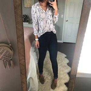 Express Snakeskin Portofino Shirt